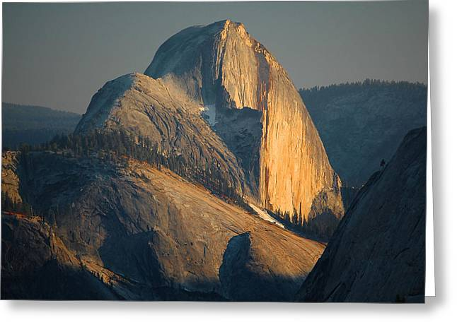 Yosemite Greeting Cards - Half Dome At Sunset - Yosemite Greeting Card by Stephen  Vecchiotti