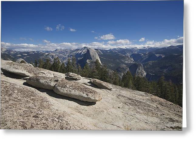 Sentinels Greeting Cards - Half Dome from Sentinel Dome Greeting Card by Chris  Brewington Photography LLC