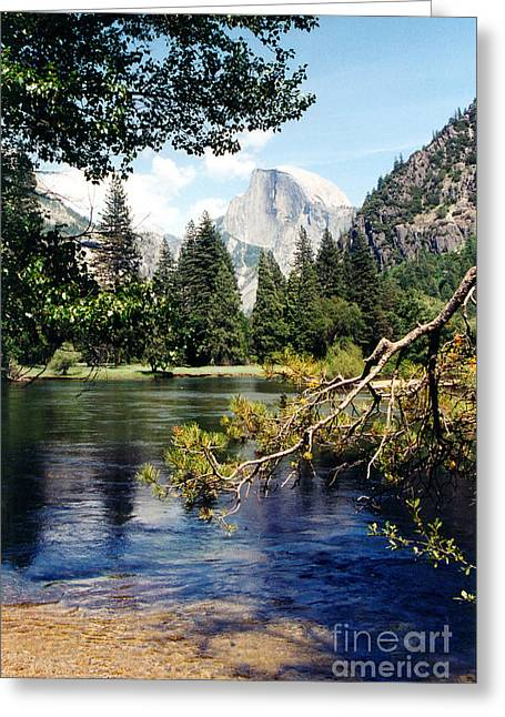 Domes Pastels Greeting Cards - Half Dome Greeting Card by Karen Sanabria