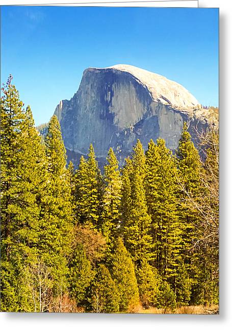 Dome Greeting Cards - Half Dome Greeting Card by Lutz Baar