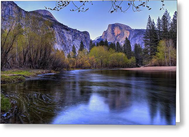 Scenic Greeting Cards - Half Dome Near Sunset Greeting Card by Jim Dohms