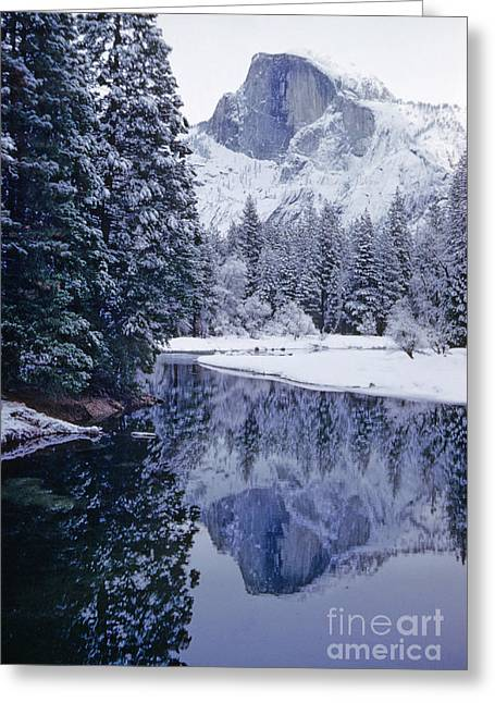 Wintry Photographs Greeting Cards - Half Dome Yosemite National Park California Greeting Card by American School