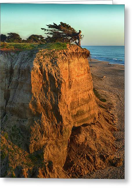 Half Moon Bay Angel Greeting Card by John K Sampson