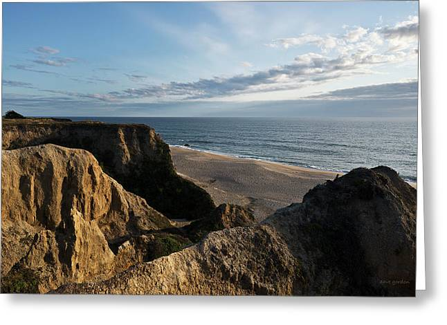Half Moon Bay Greeting Cards - Half Moon Bay I Greeting Card by David Gordon