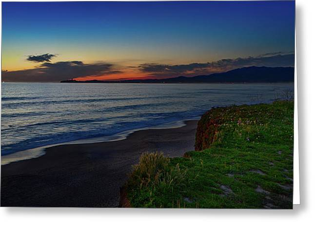 Half Moon Bay Greeting Card by John K Sampson