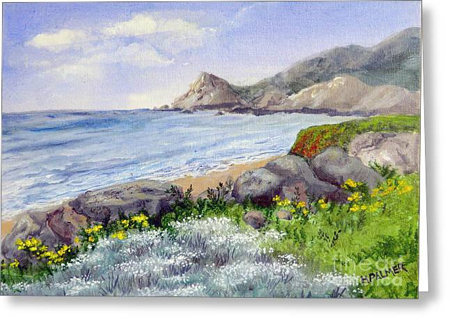 Half Moon Bay Greeting Cards - Half Moon Bay Greeting Card by Mary Palmer