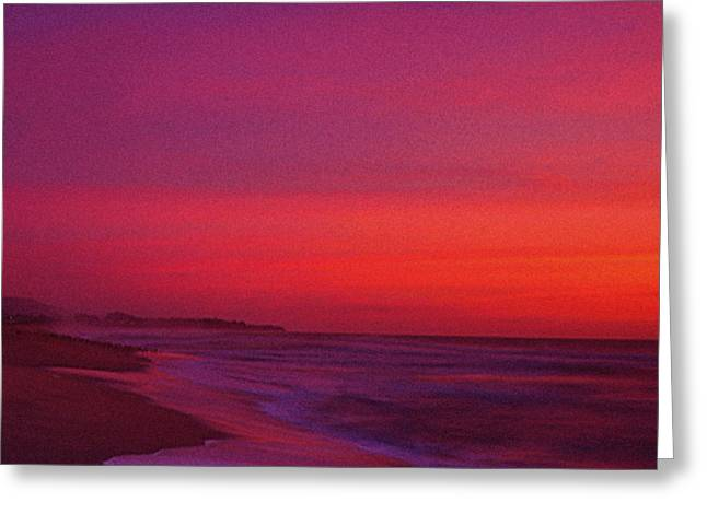 Half Moon Bay Greeting Cards - Half Moon Bay Sunset Greeting Card by Vicky Brago-Mitchell