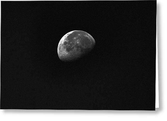 Planet Greeting Cards - Half Moon Greeting Card by Johann Todesengel