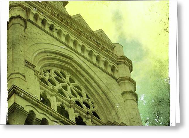 Urban Buildings Greeting Cards - Half the view Greeting Card by Cathie Tyler