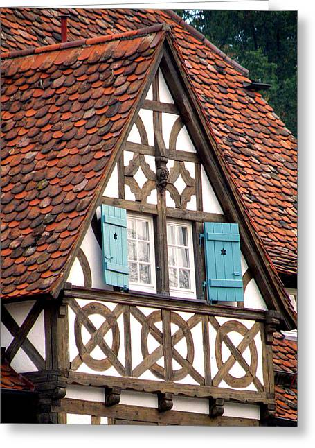 Old Barns Greeting Cards - Half-Timbered House Greeting Card by Jean Hall