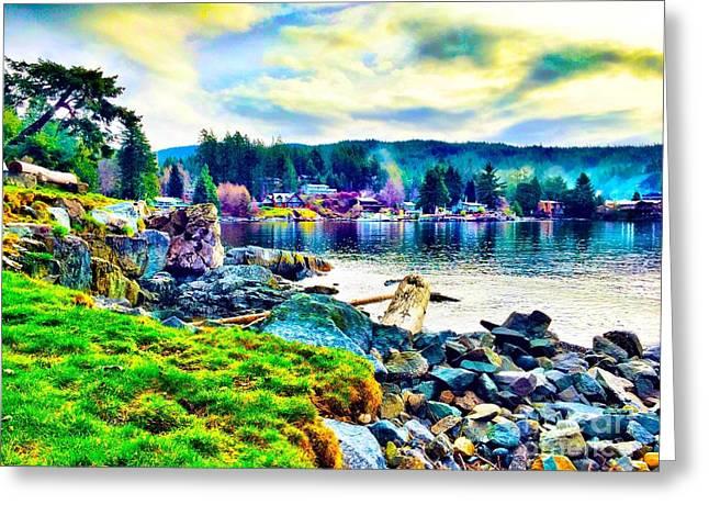 Halfmoon Bay Greeting Cards - Halfmoon Bay Shore Photo Greeting Card by Lori  Morris