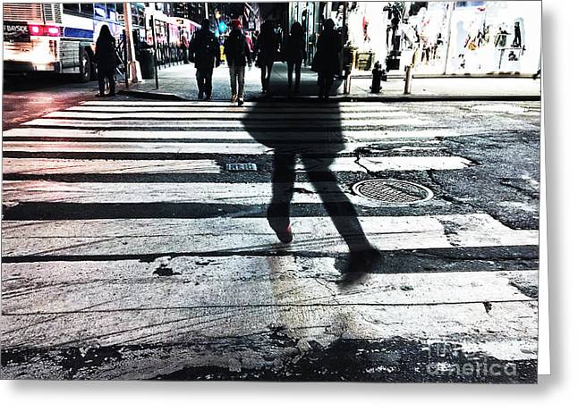 Crosswalk Greeting Cards - Halfway There Greeting Card by Angelo Merluccio