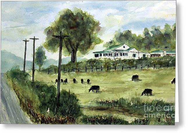 Leipers Fork Paintings Greeting Cards - Halfway to Leipers Greeting Card by Tim Ross