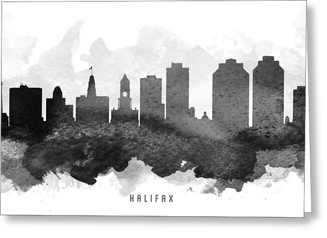 Nova Scotia Greeting Cards - Halifax Cityscape 11 Greeting Card by Aged Pixel