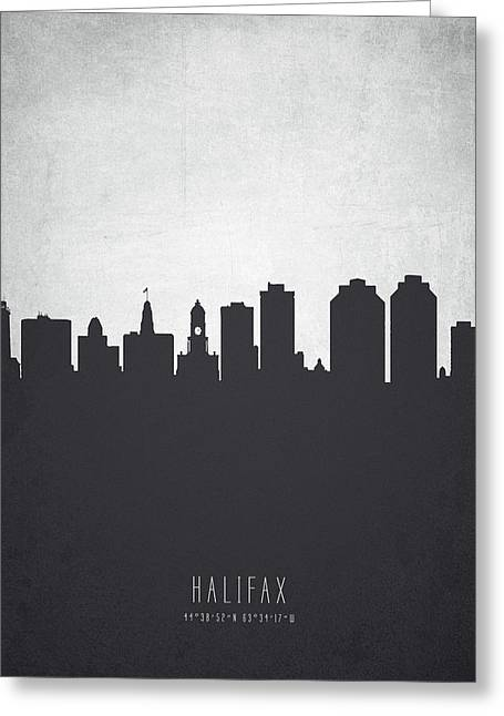 Halifax Nova Scotia Cityscape 19 Greeting Card by Aged Pixel
