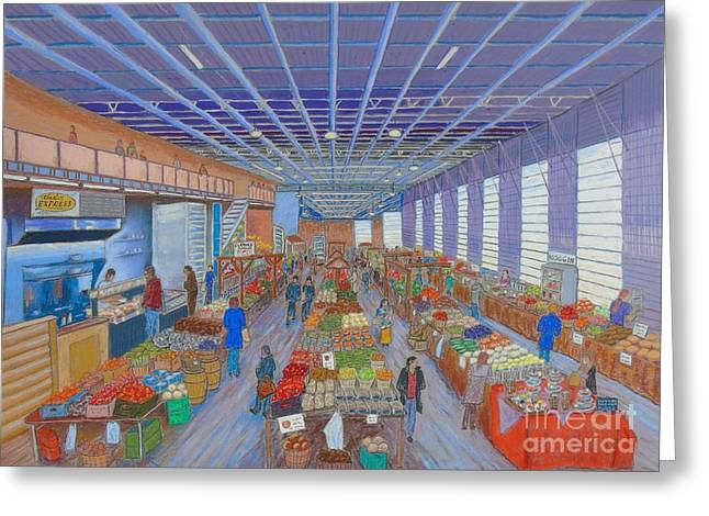 Farmer Pastels Greeting Cards - Halifax Seaport Farmers Market Greeting Card by Rae  Smith