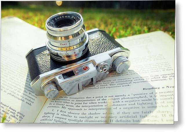 Halina 35x Rangefinder Camera Greeting Card by Jon Woodhams