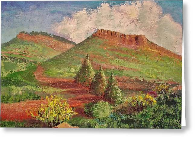 M Bobb Art Greeting Cards - Hall Ranch Hogback Greeting Card by Margaret Bobb