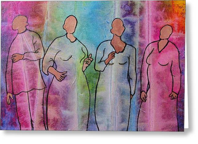 Quartet Mixed Media Greeting Cards - Hallelujah Greeting Card by Laura Nance