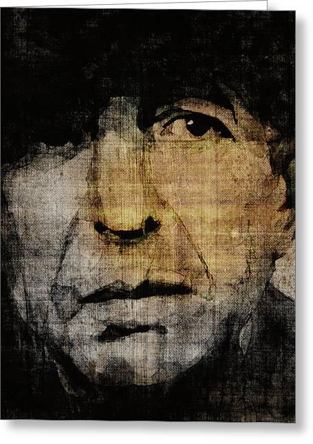 Hallelujah Leonard Cohen Greeting Card by Paul Lovering