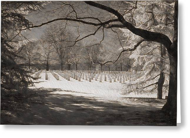 Grave Side Greeting Cards - Hallowed Ground Greeting Card by Cindy Archbell