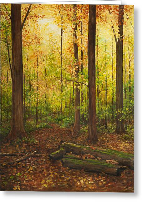Sacred Grove Greeting Cards - Hallowed Ground Greeting Card by Tiffany Sue