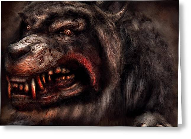 Groomer Greeting Cards - Halloween -  Mad Dog Greeting Card by Mike Savad