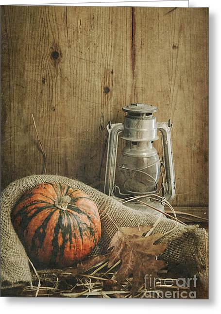 Fall Pyrography Greeting Cards - Halloween Compositin Greeting Card by Jelena Jovanovic