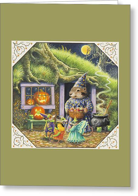 Bittersweet Paintings Greeting Cards - Halloween Costumes Greeting Card by Lynn Bywaters