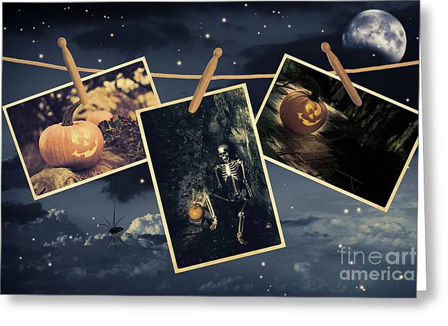 Halloween Line Greeting Card by Amanda And Christopher Elwell