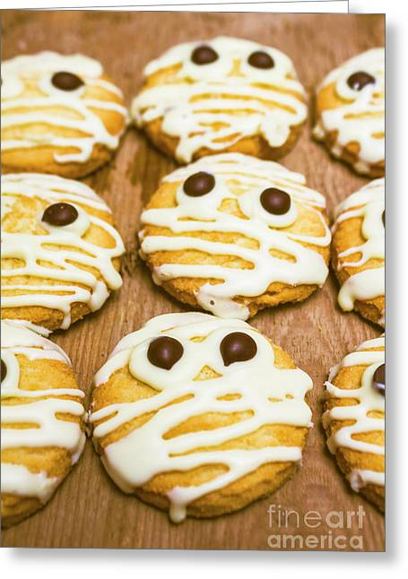 Halloween Little Monster Biscuits Greeting Card by Jorgo Photography - Wall Art Gallery