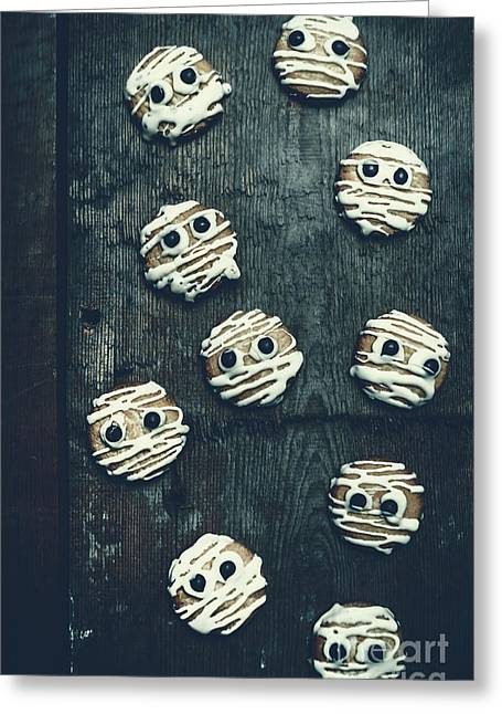 Halloween Mummy Cookies Greeting Card by Jorgo Photography - Wall Art Gallery
