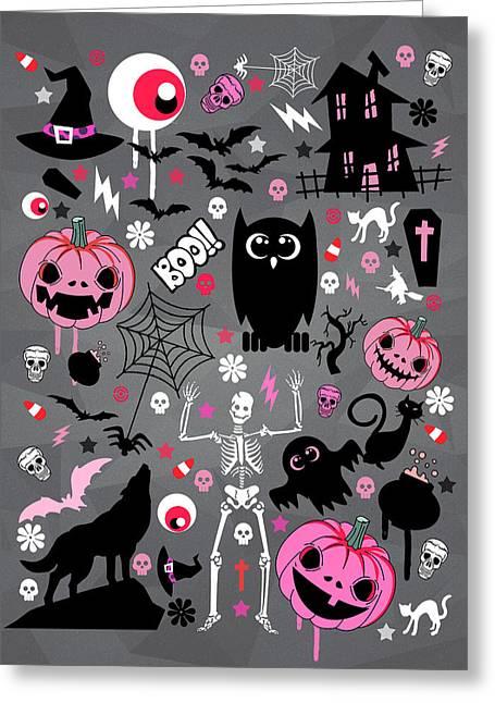 Classic Horror Greeting Cards - Halloween Night  Greeting Card by Mark Ashkenazi