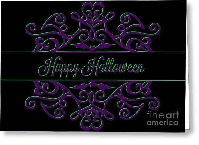 Special Occasion Greeting Cards - Halloween Ornamental Greeting Card by JH Designs