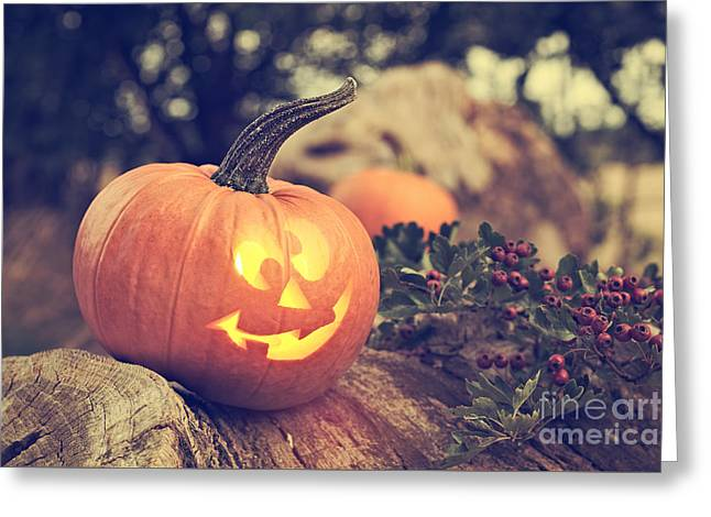 Halloween Pumpkin Greeting Card by Amanda And Christopher Elwell