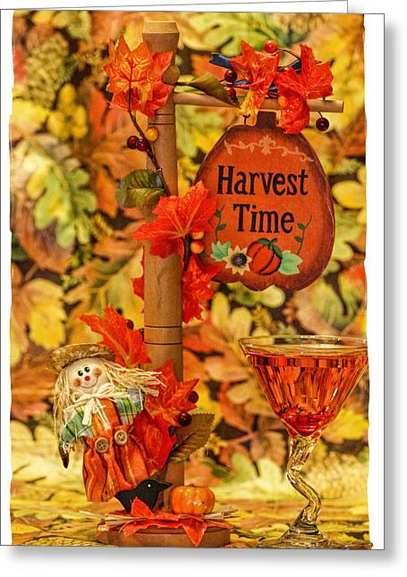 Table Wine Greeting Cards - Halloween series Greeting Card by Geraldine Scull