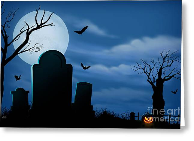 Horrible Greeting Cards - Halloween Spooks Greeting Card by Bedros Awak