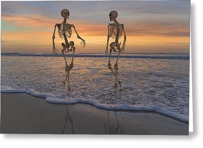 Halloween Stroll Greeting Card by Betsy Knapp