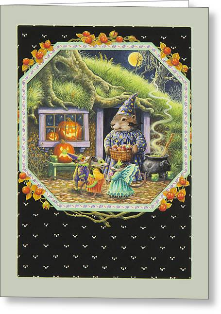 Halloween Treats Greeting Card by Lynn Bywaters