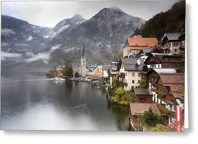 Hallstatt Greeting Card by Andre Goncalves