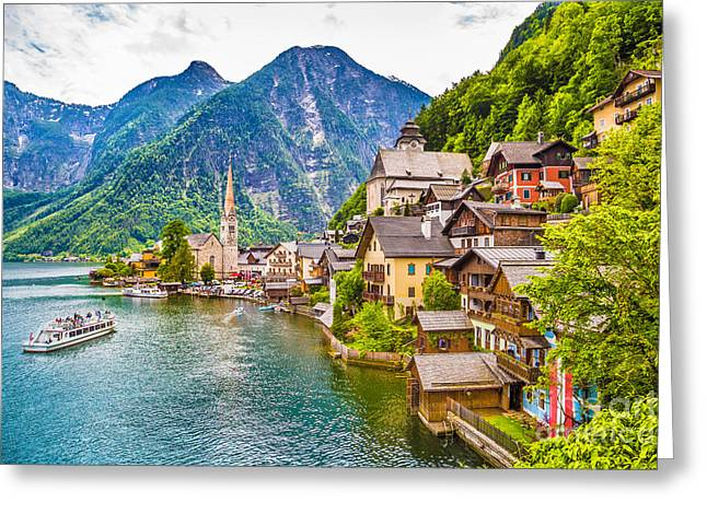 Hallstatt Greeting Cards - Hallstatt Greeting Card by JR Photography