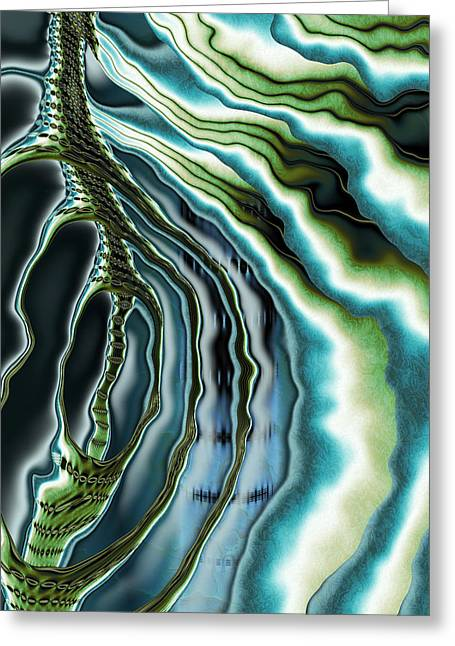 Hallucination Greeting Cards - Hallucinogen - Abstract Art Greeting Card by Vic Eberly