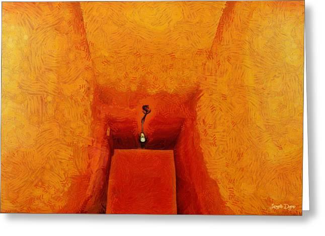 Hallway - Da Greeting Card by Leonardo Digenio