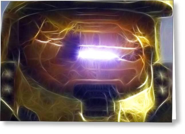 Halo Mistical Greeting Card by Paul Van Scott