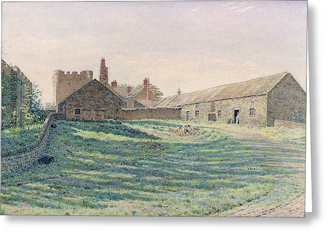 In Shade Greeting Cards - Halton Castle Greeting Card by George Price Boyce