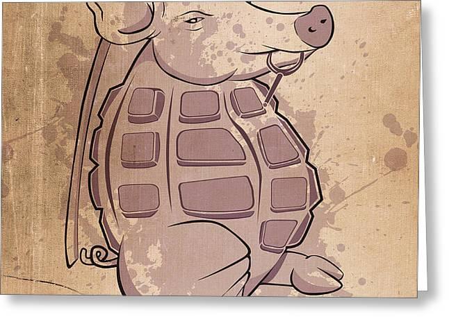 Ham-grenade Greeting Card by Joe Dragt