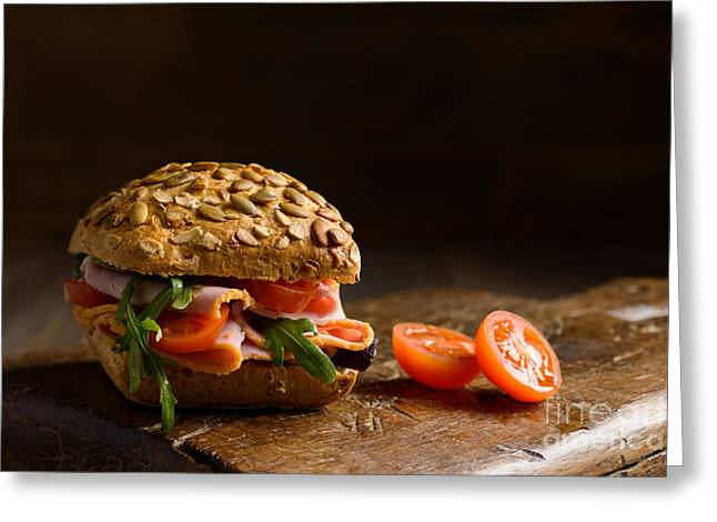 Lettuce Greeting Cards - Ham Salad Roll Greeting Card by Amanda And Christopher Elwell