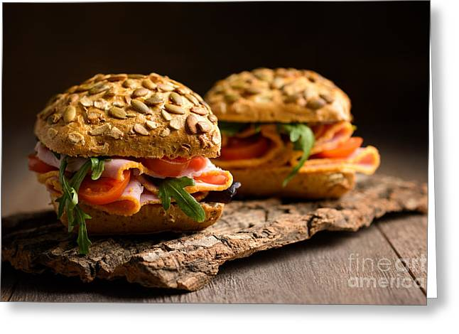 Granary Greeting Cards - Ham Salad Rolls Greeting Card by Amanda And Christopher Elwell