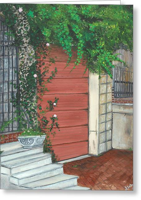 John Schuller Art Greeting Cards - Hamburg Street Garage Greeting Card by John Schuller