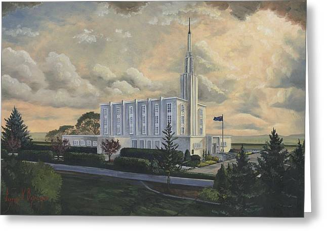New Zealand Greeting Cards - Hamilton New Zealand Temple Greeting Card by Jeff Brimley